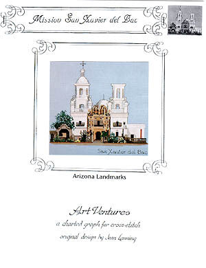 Art Ventures Mission San Xavier New Mexico cross stitch pattern
