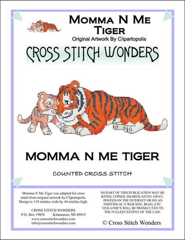 Cross Stitch Wonders Marcia Manning Momma N Me Tiger Cross stitch pattern