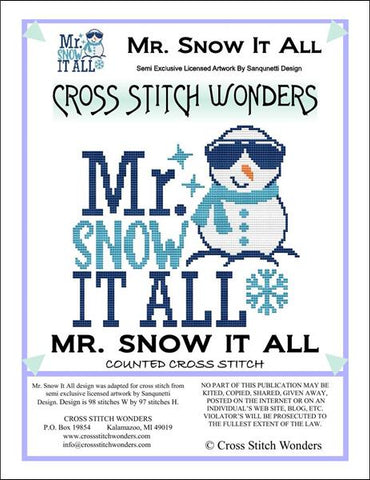 Cross Stitch Wonders Carolyn Manning Mr. Snow It All Winter Cross stitch pattern