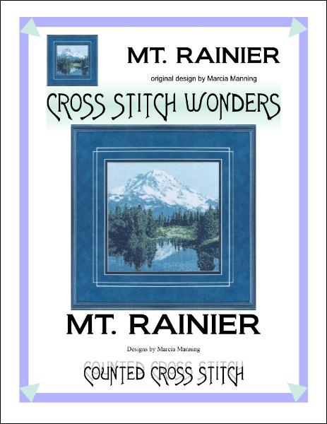 Cross Stitch Wonders Marcia Manning Mt. Rainier Cross stitch pattern