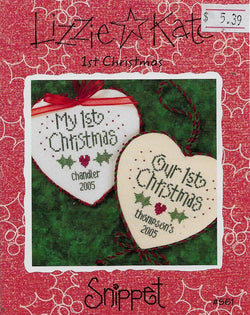 Lizzie Kate My First Christmas S61 cross stitch pattern