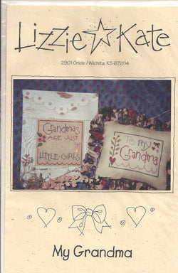 Lizzie Kate My Grandma LK028 cross stitch pattern
