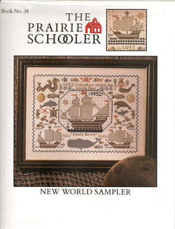 Prairie Schooler New World Sampler 34 cross stitch pattern