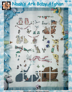Graphworks Noah's Ark baby Afghan cross stitch pattern
