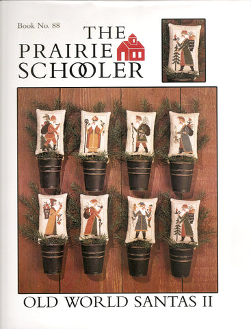 Prairie Schooler Old World Santas II 88 Christmas cross stitch pattern