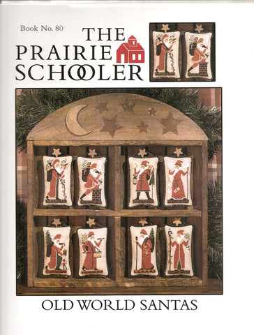 Prairie Schooler Old World Santas Christmas 80 cross stitch pattern