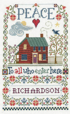 Imaginating Peace To All Sampler 3294 cross stitch sampler pattern