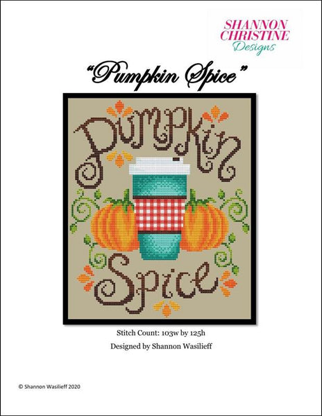 Shannon Christine Pumpkin Spice Autumn cross stitch pattern