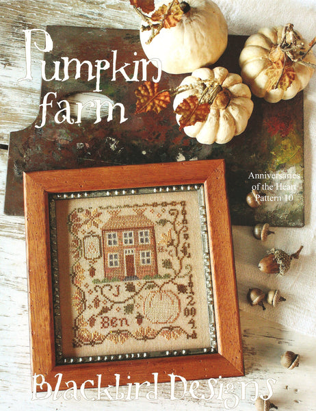 Blackbird Designs Pumpkin Farm cross stitch pattern