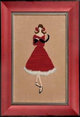 Nora Corbett Red Kitten NC176 cross stitch pattern
