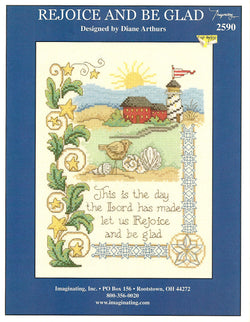Imaginating Rejoice and be glad 2590 religious cross stitch pattern