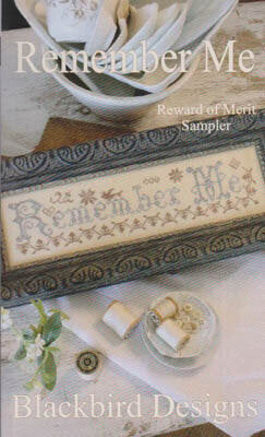Blackbird Designs Remember Me Reward of Merit Sampler cross stitch pattern