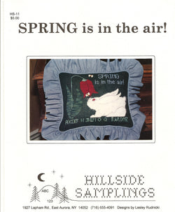 Hillside Samplings SPRING is in the air! Cross stitch pattern