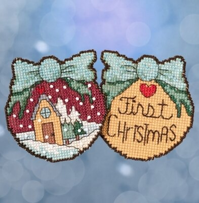Mill Hill First Christmas Ornamenst ST18-1716 beaded cross sticth kit