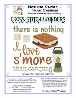 Cross Stitch Wonders Marcia Manning S'more Camping Cross stitch pattern