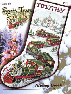 Stoney Creek Santa Train Stocking LFT314 cross stitch pattern