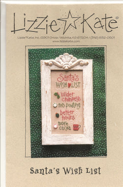 Lizzie Kate Santa's Wish List 084 Christmas cross stitch pattern