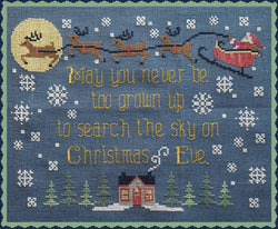 Waxing Moon Search the Sky Christmas cross stitch pattern