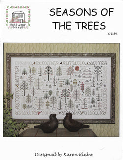 Rosewood Manor Seasons of the Trees S-1189cross stitch pattern