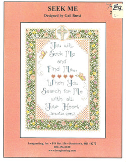 Imaginating Seek Me 2719 religious cross stitch pattern