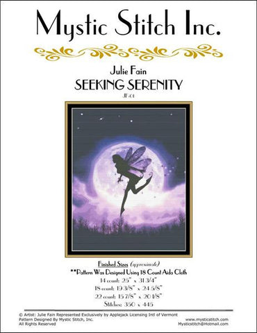 Mystic Stitch Seeking Serenity cross stitch pattern
