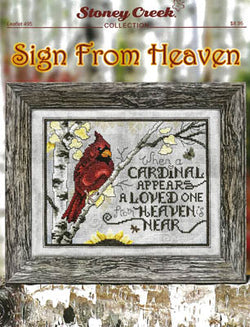 Stoney Creek Sign From Heaven LFT495 Inspirational cross stitch pattern