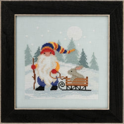 Mill Hill Sledding Gnome MD17-2012 beaded cross stitch kit