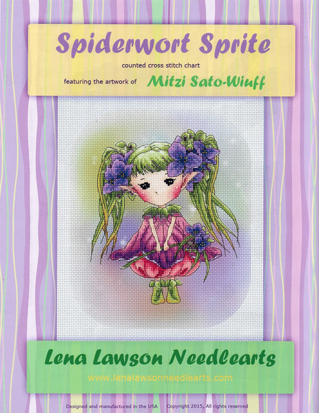 Lena Lawson Spiderwort Sprite cross stitch pattern
