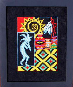Bobbie G. Designs Spirit of the Southwest II kokopeli native american cross stitch pattern