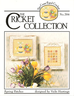 Cricket Collection Spring Patches CC204 cross stitch leaflet