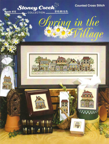 Stoney Creek Spring in the Village BK415 cross stitch pattern