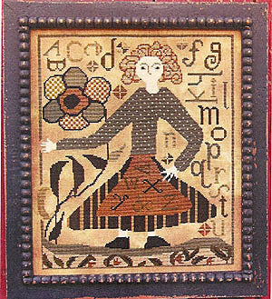 Carriage House Suzannah primative cross stitch pTTERN