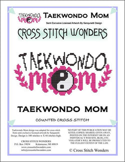 Cross Stitch Wonders Carolyn Manning Taekwondo Mom Cross stitch pattern