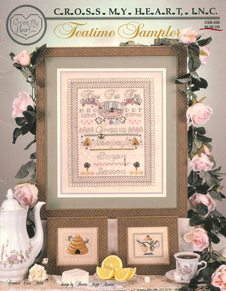 Cross My Heart Teatime Sampler CSB-206 cross stitch pattern