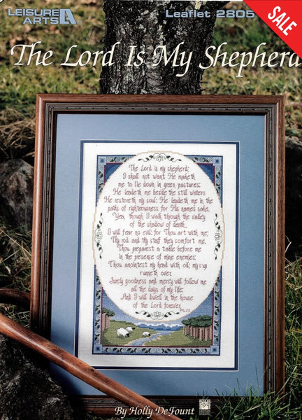 Leisure Arts The Lord Is My Shepherd religious cross stitch pattern