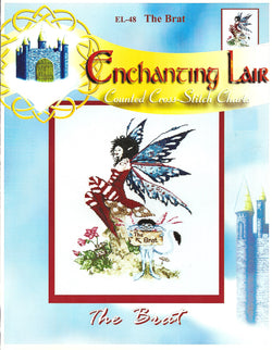 Enchanting Lair The Brat fantasy cross stitch pattern