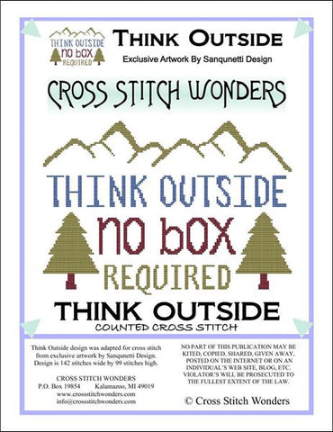 Cross Stitch Wonders Marcia Manning Think Outside Cross stitch pattern