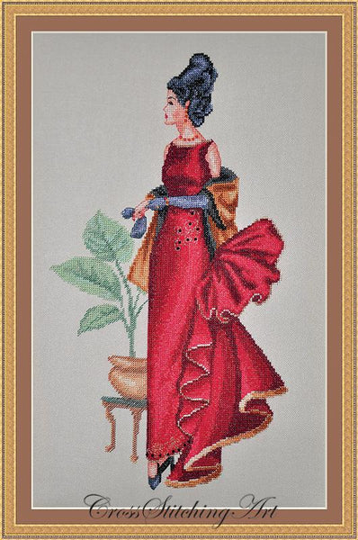 Cross Stitching Art Tiffany fashion fantasy cross stitch pattern