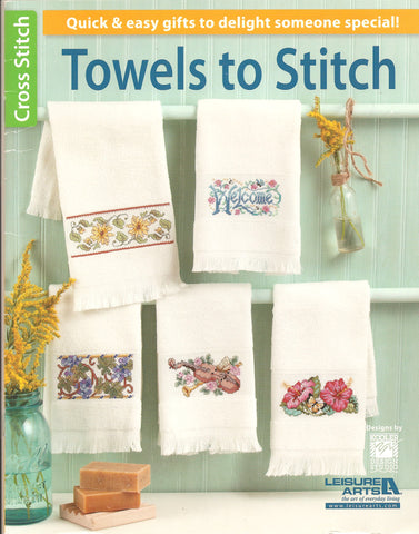 Leisure Arts Towels to stitch cross stitch pattern