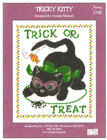 Imaginating Tricky Kitty 2792 Halloween cross stitch pattern