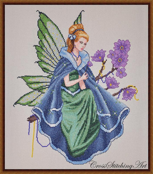 Cross Stitching Art Twilight Fairy fashion fantasy cross stitch pattern