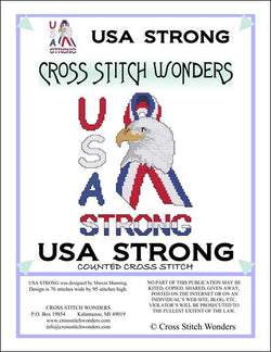 Cross Stitch Wonders Marcia Manning USA Strong Cross stitch pattern