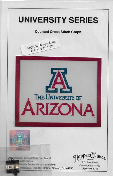Happenchance University of Arizona cross stitch pattern
