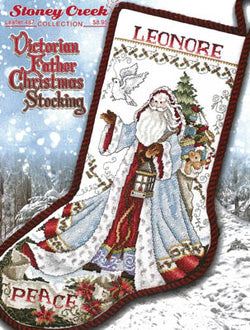 Stoney Creek Victorian Father Christmas Stocking LFT487 Christmas Stocking cross stitch pattern