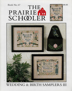 Prairie Schooler Wedding & Birth Sampler III cross stitch pattern