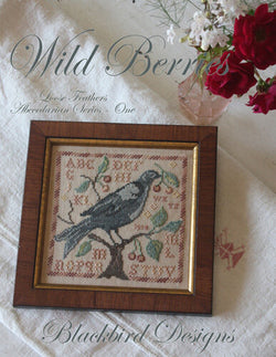 Blackbird Designs Wild Berries cross stitch pattern