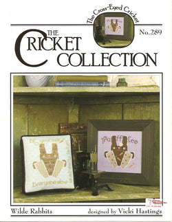 Cricket Collection Wilde Rabbits CC289 cross stitch leaflet