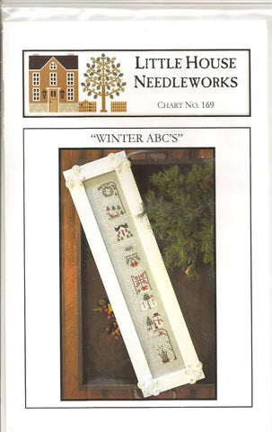 Little House Needleworks Winter ABC's LHN169 cross stitch pattern