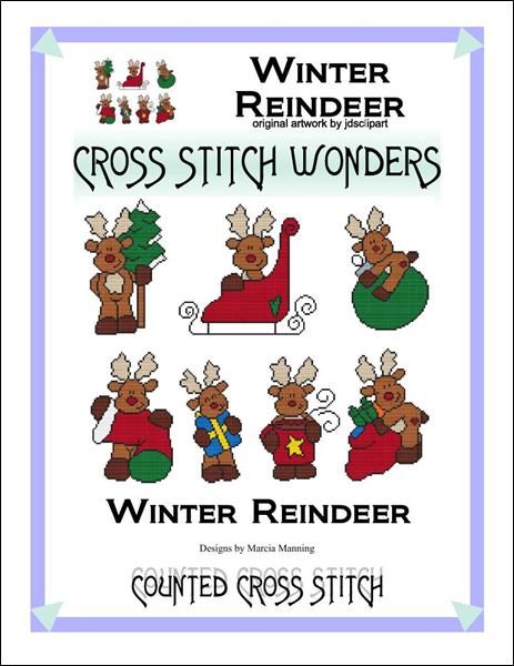 Cross Stitch Wonders Marcia Manning Winter Reindeer Cross stitch pattern