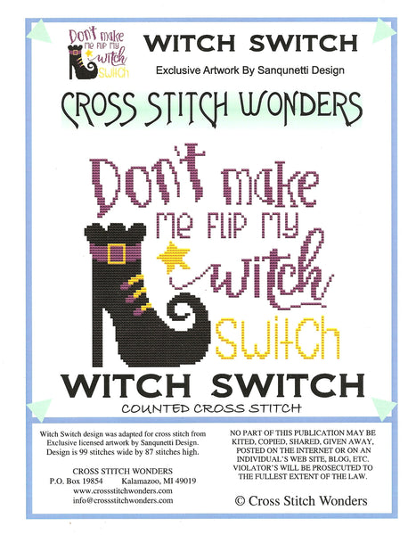 Cross Stitch Wonders Witch Switch cross stitch pattern